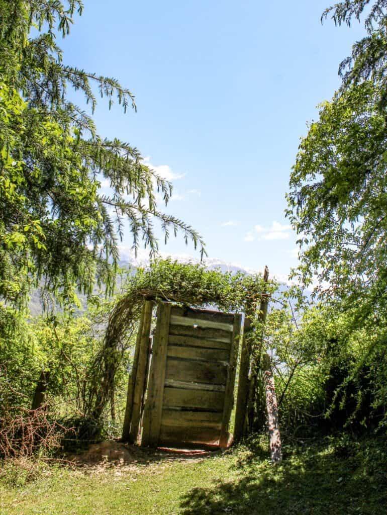 A strange lone door in Sainj valley