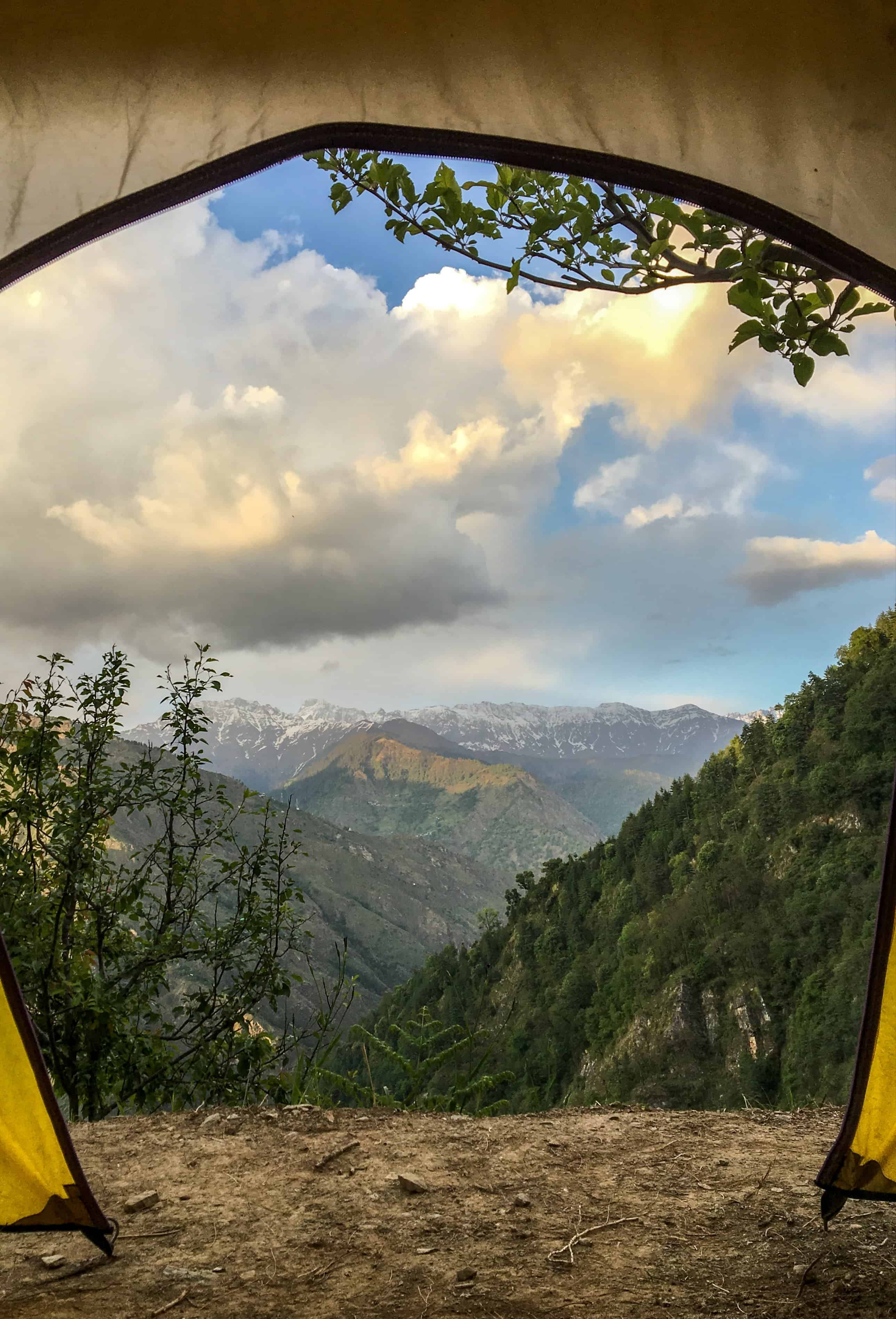 Morning view from the tent!