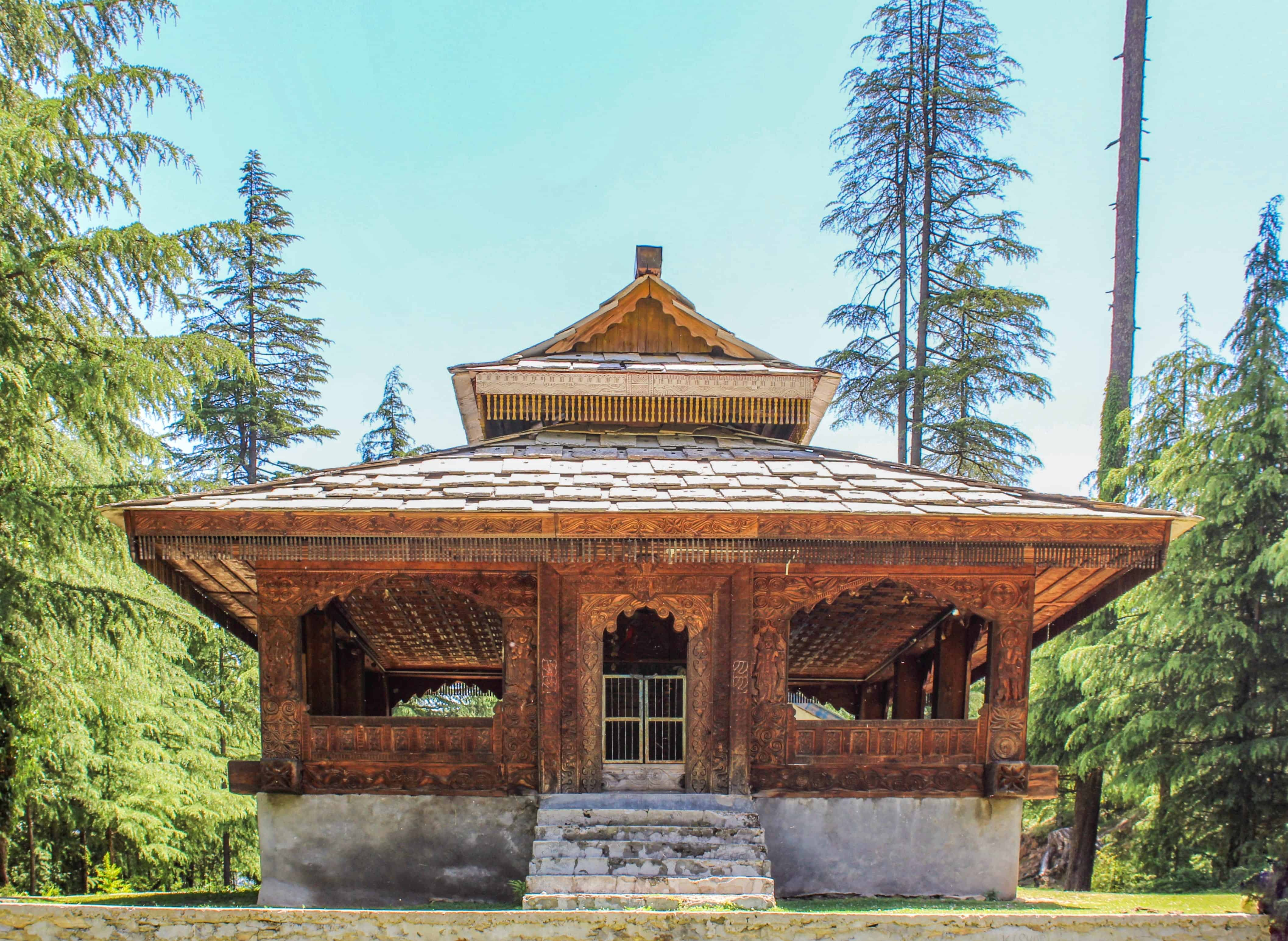 An ancient wooden temple in Sainj Valley