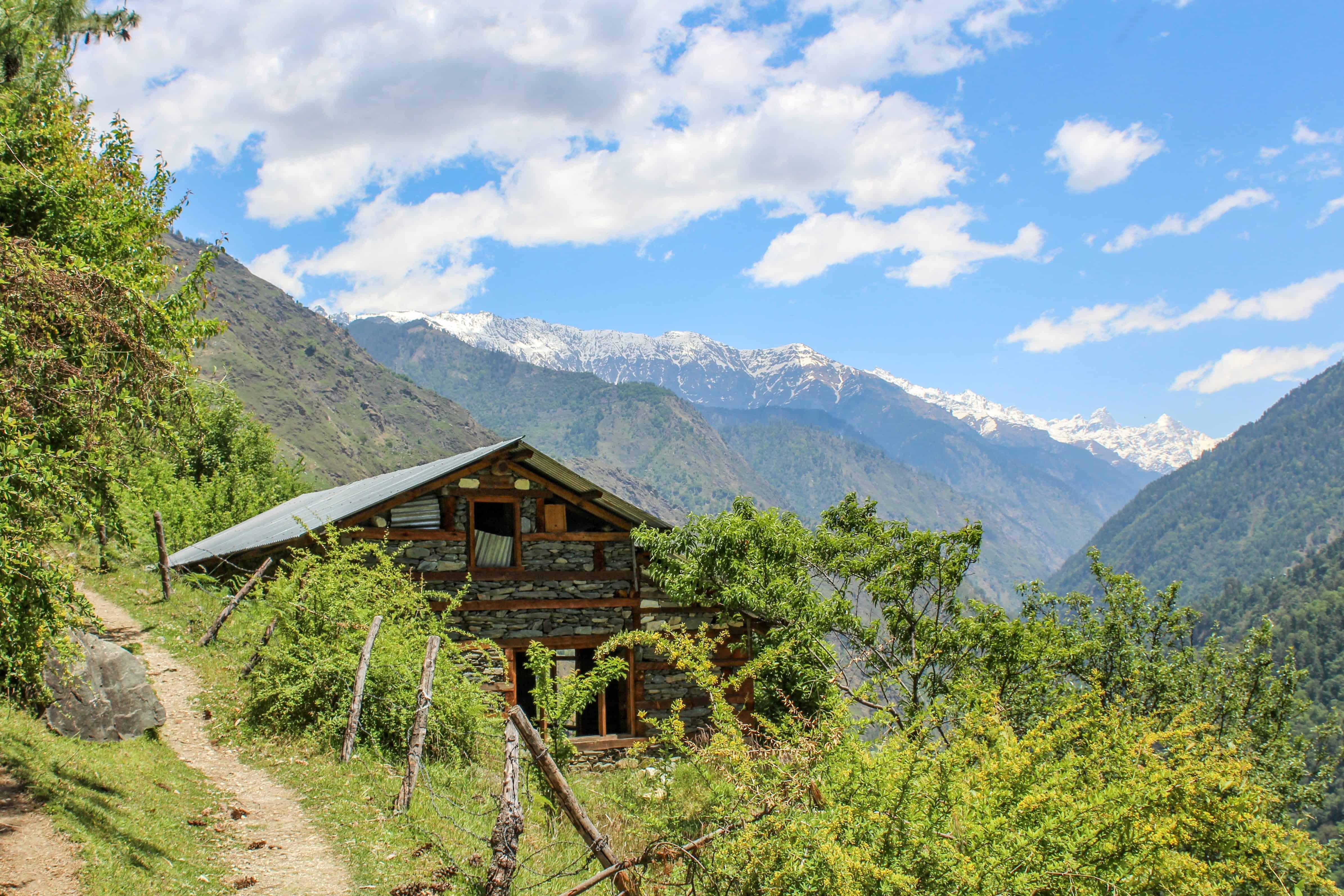 A quaint Himalayan house
