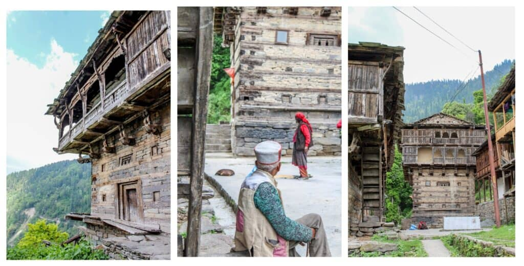 Traditional Himachali homes