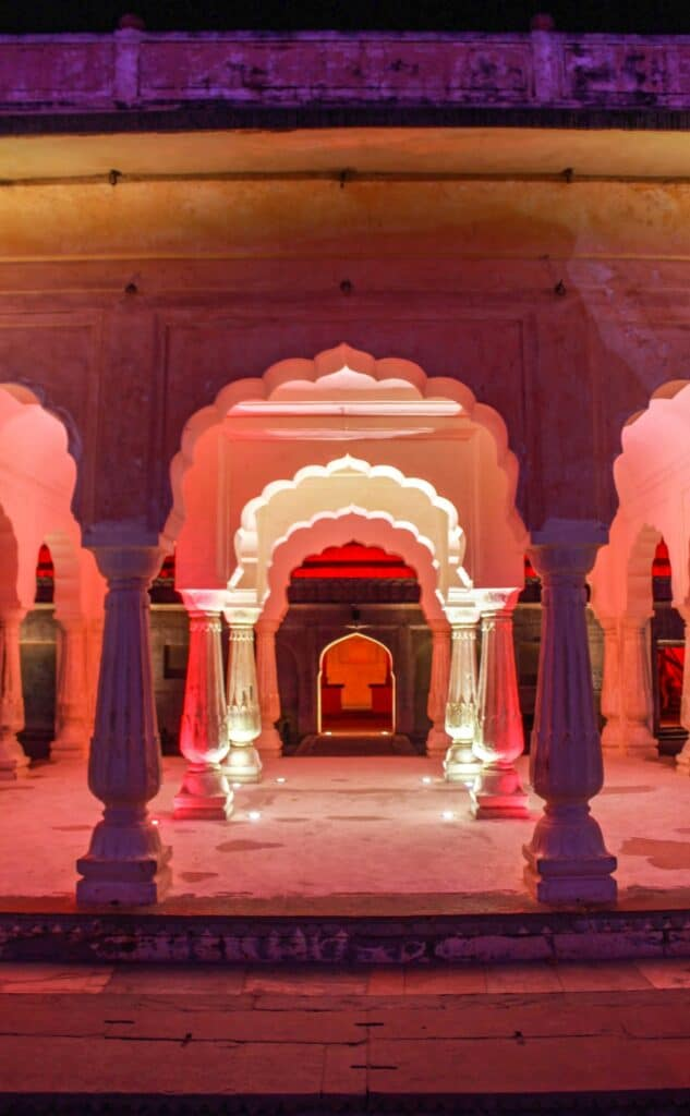 Amber Fort at night- one of the best places to visit in Jaipur