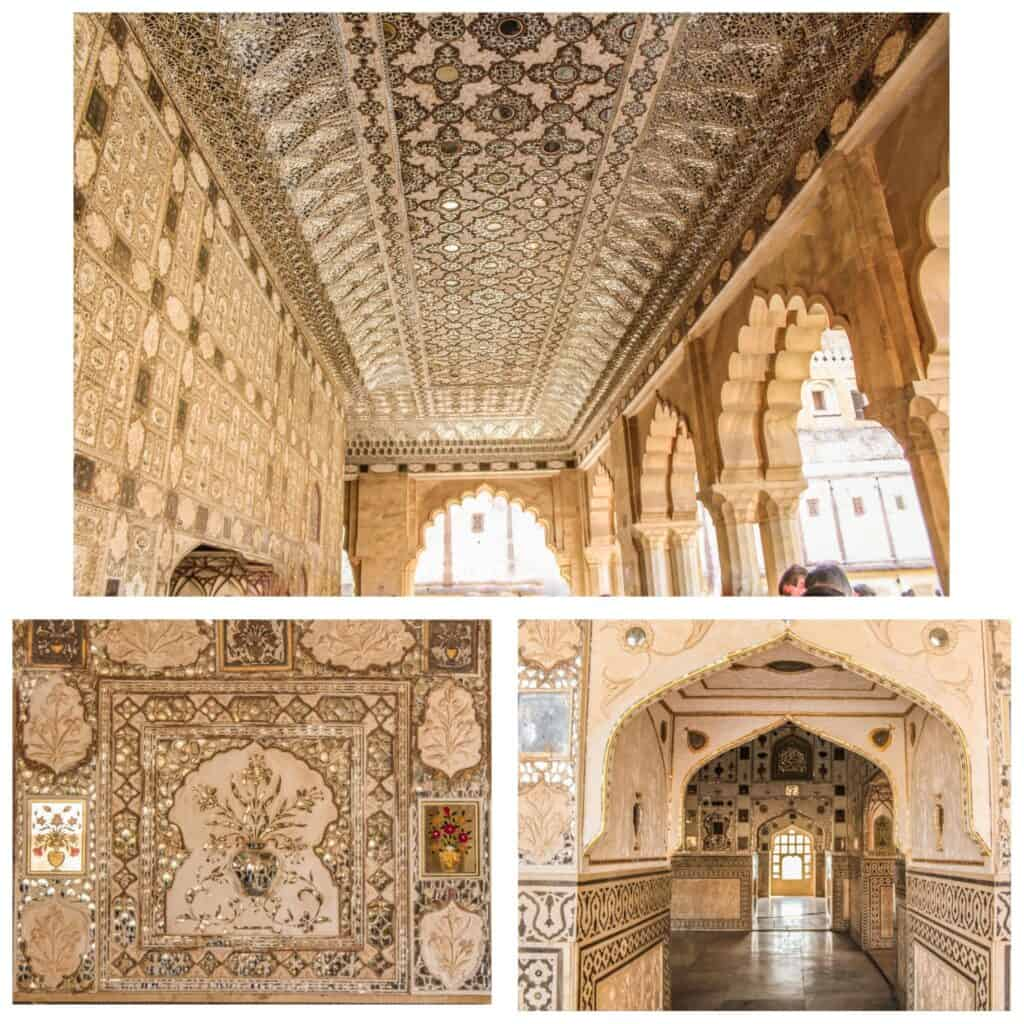 Sheesh Mahal in Amer Fort- one of the best places to visit in Jaipur