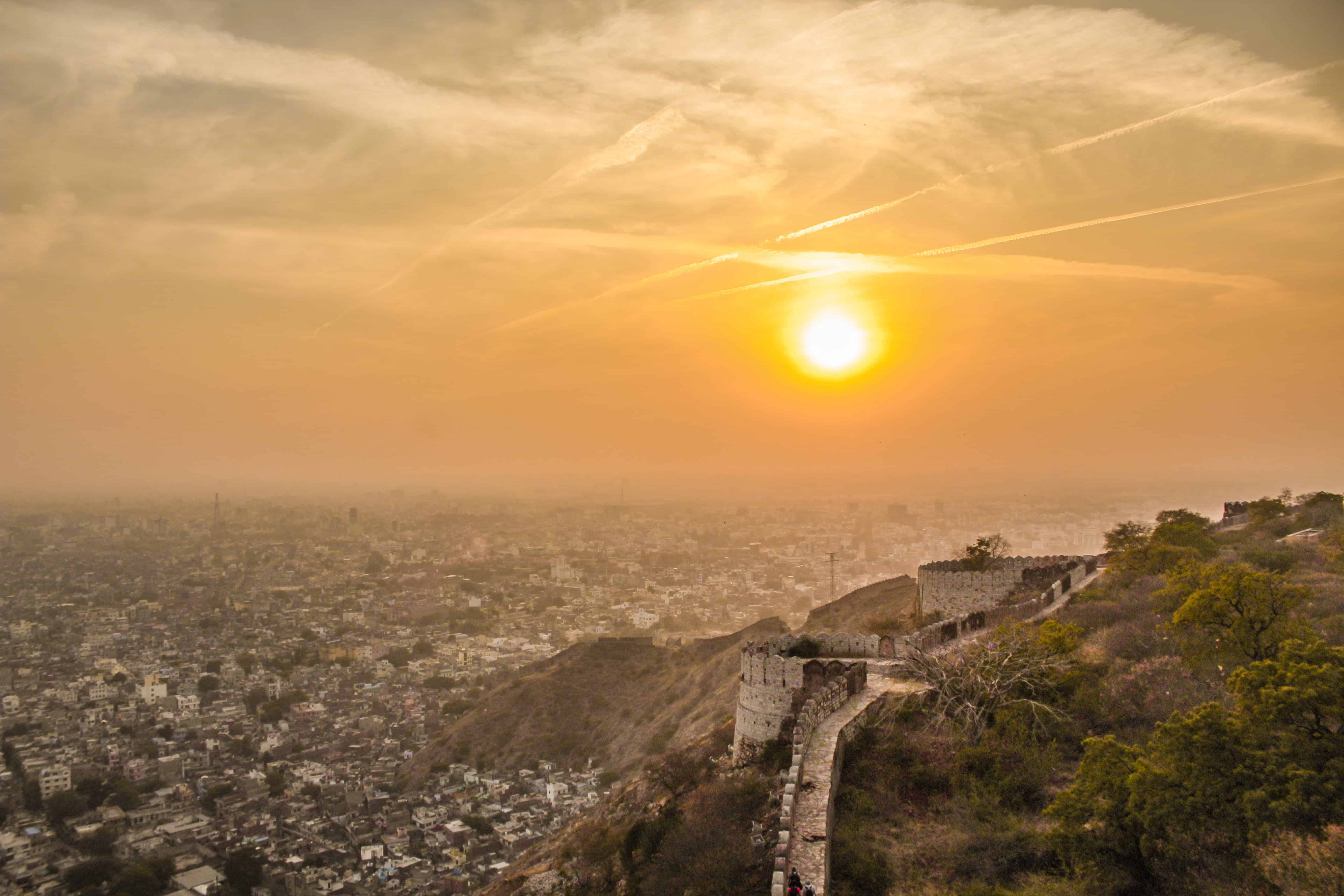 Dreamy sunset at Nahargarh Fort- One of the best places to visit in Jaipur