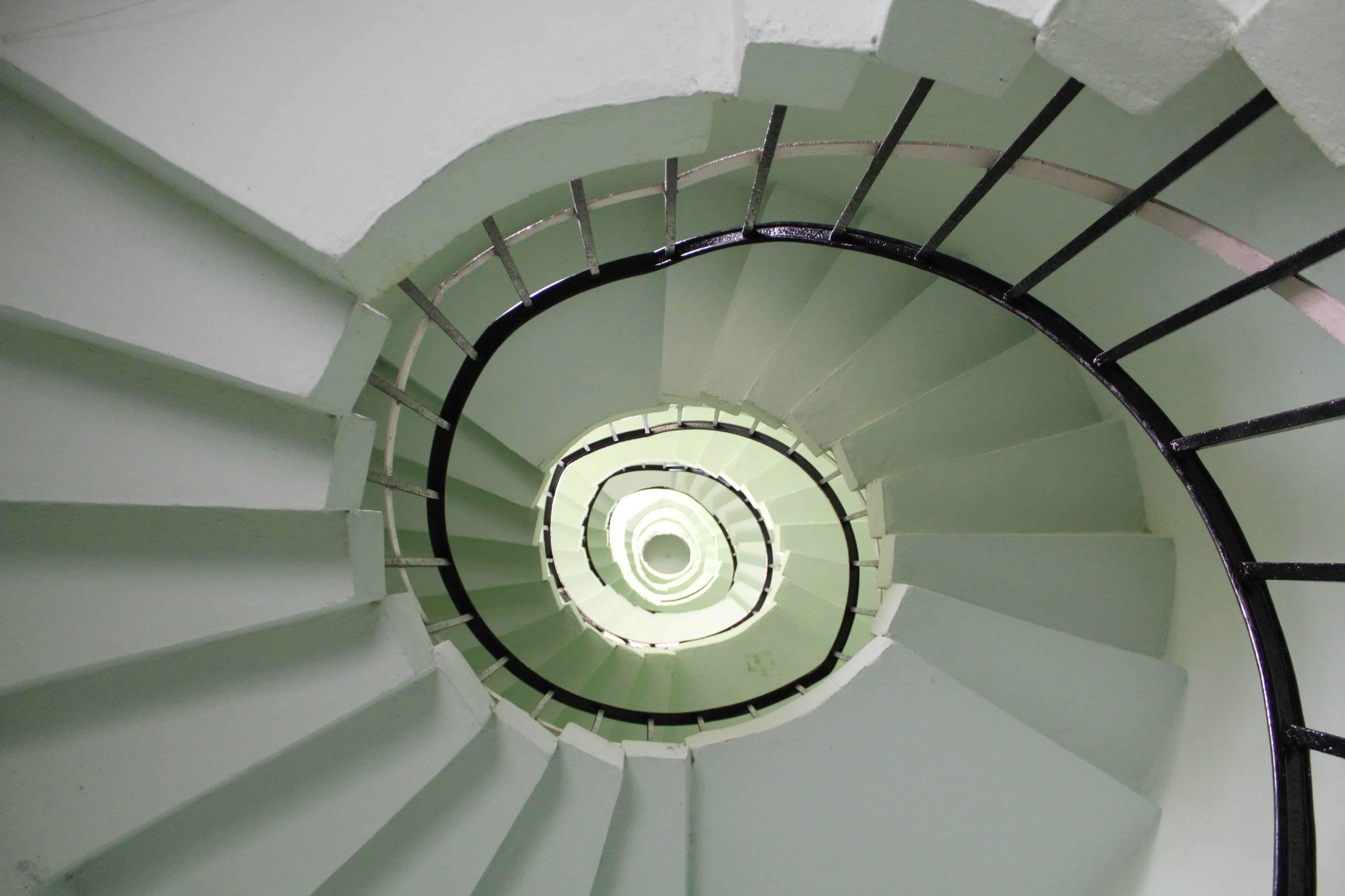 Anjengo Lighthouse stairway