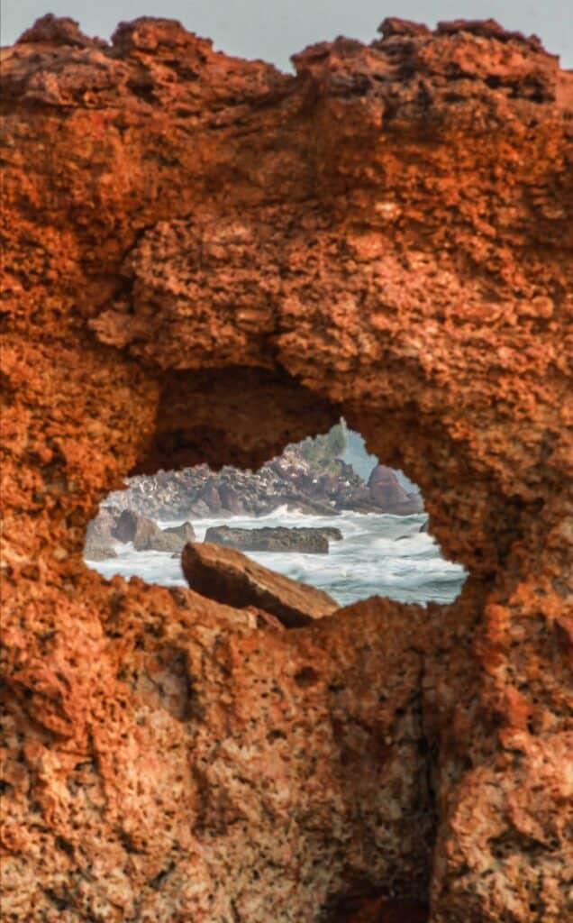 red sandstone rocks